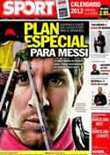 Portada diario Sport del 2 de Diciembre de 2011