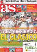 Portada diario AS del 4 de Diciembre de 2011