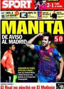 Portada diario Sport del 4 de Diciembre de 2011