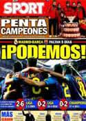 Portada diario Sport del 5 de Diciembre de 2011