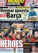 Portada Mundo Deportivo del 5 de Diciembre de 2011