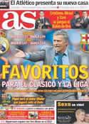 Portada diario AS del 6 de Diciembre de 2011