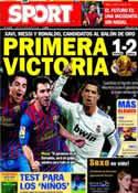 Portada diario Sport del 6 de Diciembre de 2011