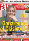 Portada diario AS del 7 de Diciembre de 2011