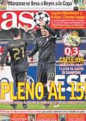 Portada diario AS del 8 de Diciembre de 2011