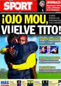 Portada diario Sport del 8 de Diciembre de 2011