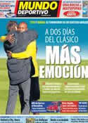Portada Mundo Deportivo del 8 de Diciembre de 2011