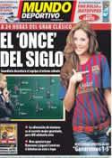 Portada Mundo Deportivo del 9 de Diciembre de 2011