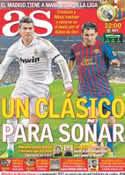 Portada diario AS del 10 de Diciembre de 2011