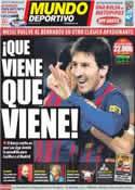 Portada Mundo Deportivo del 10 de Diciembre de 2011