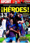 Portada diario Sport del 11 de Diciembre de 2011