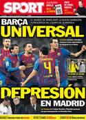 Portada diario Sport del 12 de Diciembre de 2011