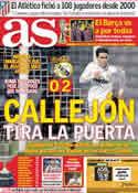 Portada diario AS del 14 de Diciembre de 2011