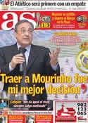 Portada diario AS del 15 de Diciembre de 2011