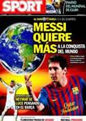 Portada diario Sport del 15 de Diciembre de 2011