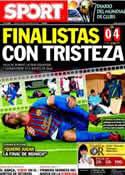 Portada diario Sport del 16 de Diciembre de 2011