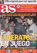 Portada diario AS del 17 de Diciembre de 2011