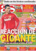 Portada diario AS del 18 de Diciembre de 2011
