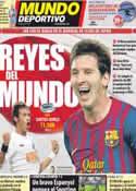 Portada Mundo Deportivo del 18 de Diciembre de 2011
