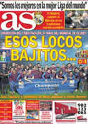 Portada diario AS del 19 de Diciembre de 2011