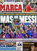 Portada diario Marca del 19 de Diciembre de 2011