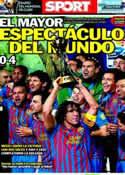 Portada diario Sport del 19 de Diciembre de 2011