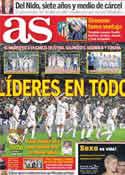 Portada diario AS del 20 de Diciembre de 2011