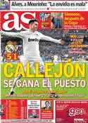 Portada diario AS del 21 de Diciembre de 2011