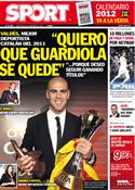 Portada diario Sport del 21 de Diciembre de 2011