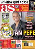 Portada diario AS del 22 de Diciembre de 2011