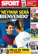 Portada diario Sport del 22 de Diciembre de 2011