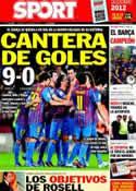 Portada diario Sport del 23 de Diciembre de 2011