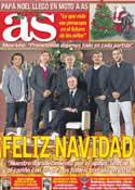 Portada diario AS del 24 de Diciembre de 2011