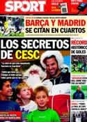 Portada diario Sport del 24 de Diciembre de 2011