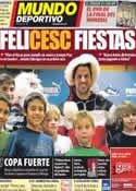 Portada Mundo Deportivo del 24 de Diciembre de 2011