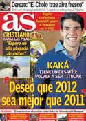 Portada diario AS del 26 de Diciembre de 2011