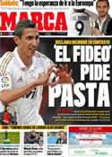 Portada diario Marca del 26 de Diciembre de 2011
