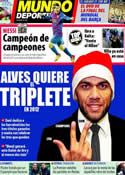 Portada Mundo Deportivo del 26 de Diciembre de 2011