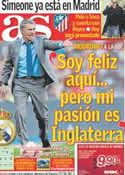 Portada diario AS del 27 de Diciembre de 2011