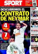 Portada diario Sport del 27 de Diciembre de 2011