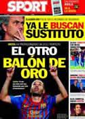 Portada diario Sport del 28 de Diciembre de 2011