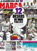 Portada diario Marca del 30 de Diciembre de 2011