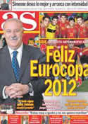 Portada diario AS del 31 de Diciembre de 2011