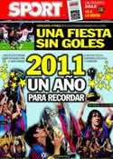 Portada diario Sport del 31 de Diciembre de 2011