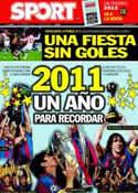 Portada diario Sport del 31 de Diciembre de 2011