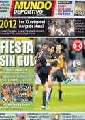 Portada Mundo Deportivo del 31 de Diciembre de 2011