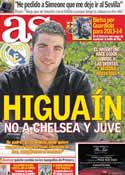 Portada diario AS del 2 de Enero de 2012