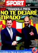 Portada diario Sport del 2 de Enero de 2012