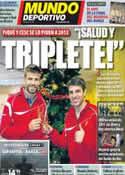 Portada Mundo Deportivo del 2 de Enero de 2012