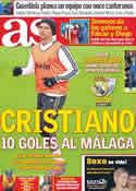 Portada diario AS del 3 de Enero de 2012
